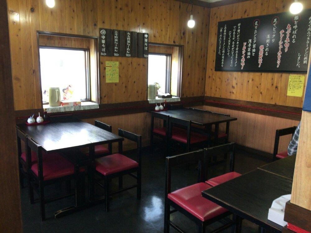 ニラなんばんラーメン 香麺の店内