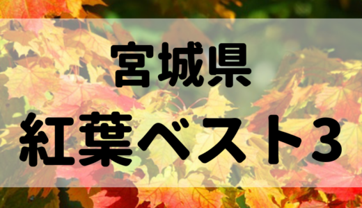 宮城県北のおすすめ紅葉スポットベスト3