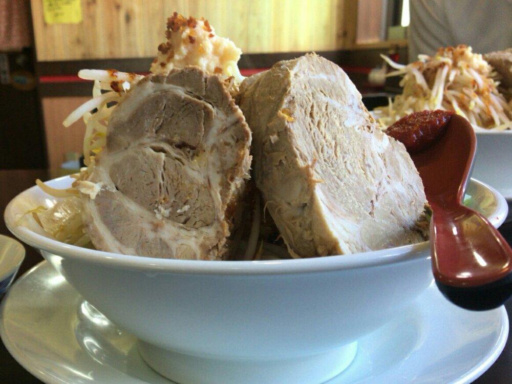 塩釜 ニラなんばんラーメン 香麺の二郎系豪めん