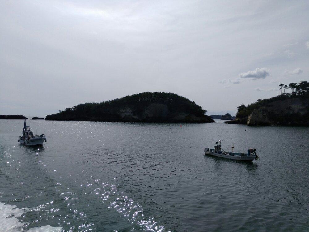 松島湾 漁船