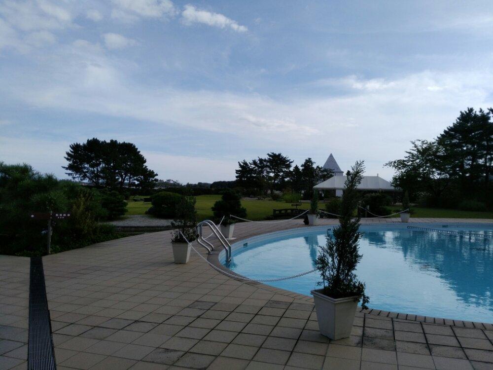 松島町 一の坊 水上庭園のプール