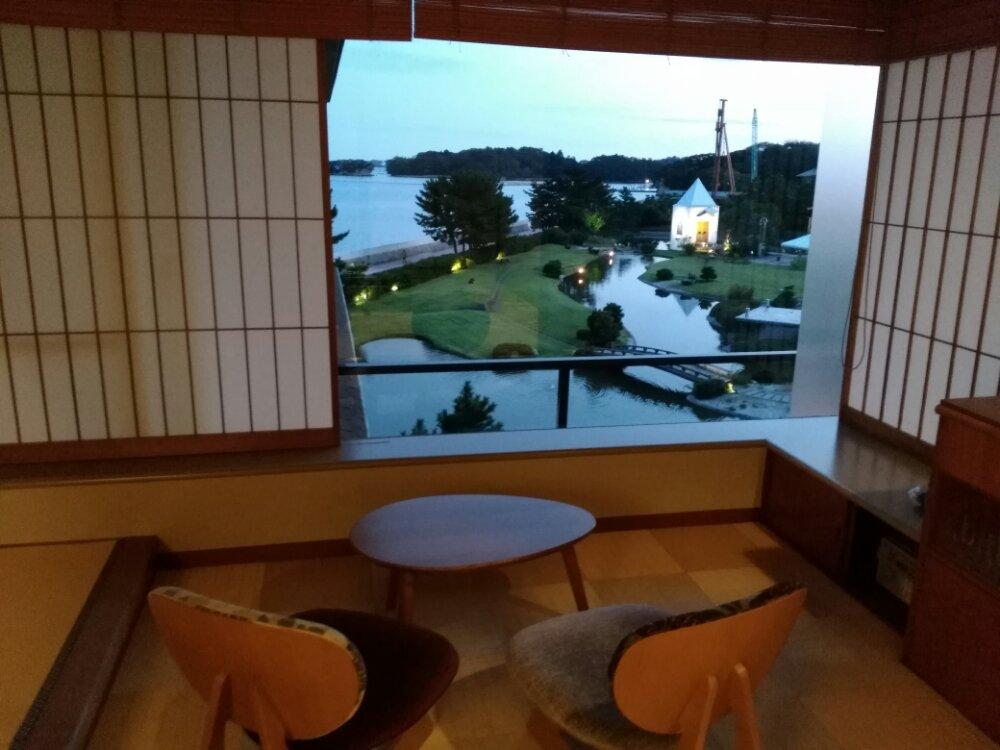 松島湯元 一の坊 水上庭園のライトアップ