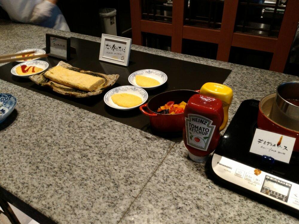 松島温泉 湯元一の坊の朝食(だし巻き卵)