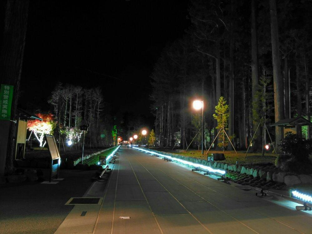 松島瑞巌寺の参道ライトアップ