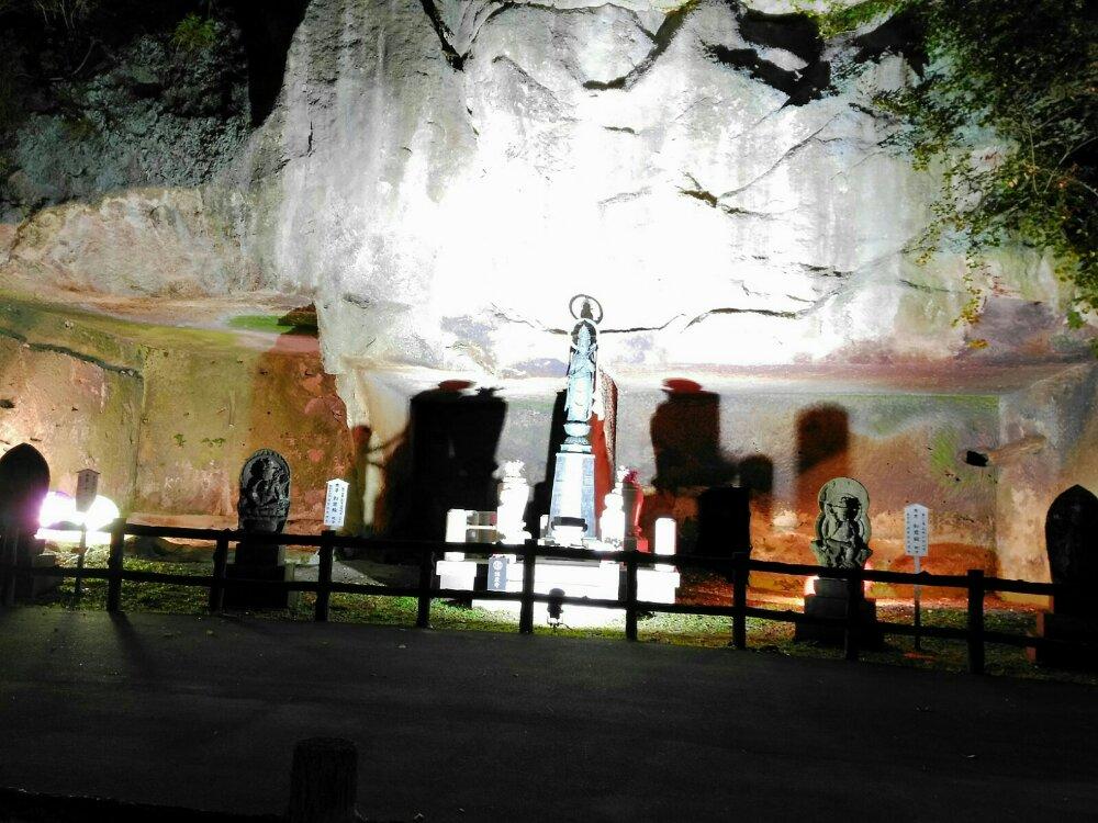 瑞巌寺の洞窟遺跡ライトアップ
