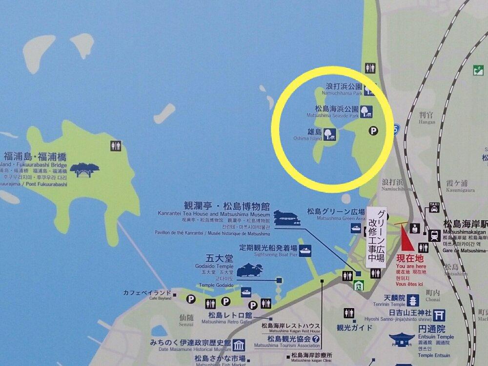 雄島周辺のマップ